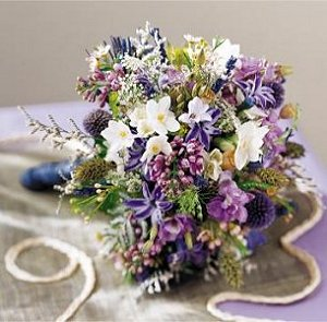 Image of 10001 Lavender Cascade Bouquet