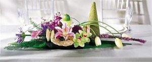 Image of 10062 Eclectic Head Table Centerpiece