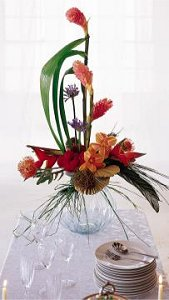 Image of 10073 Beautifully Charming Buffet Table Arrangement