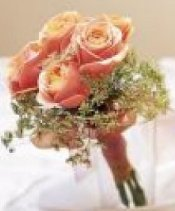 Image of 10119 Sparkle Peach Prom Bouquet