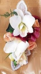 Image of 10129 White Orchid Corsage
