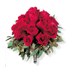 Image of 10797 Velvet Red Roses Nosegay.