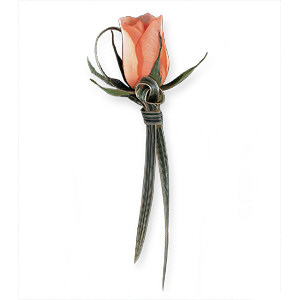 Image of 10801 Peach Promise Boutonniere.