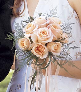 Image of 10802 Peach Promise Bouquet.