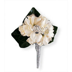 Image of 10805 White Stock Boutonniere.