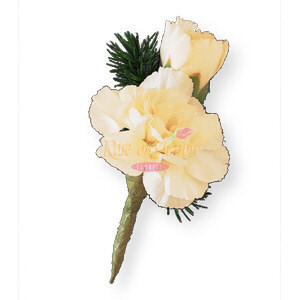 Image of 10808 Miniature White Carnation Boutonniere.
