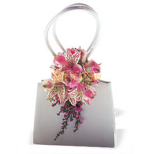 Image of 10840 Ruffled Pinks Purse Corsage.
