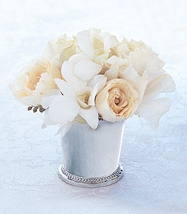 Image of 10853 Cherished Vows Silver Julep Cup.
