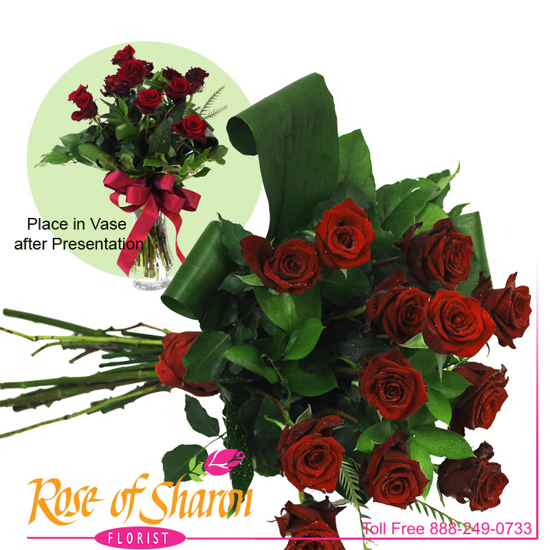 1026 Presentation Rose Bouquet Image One
