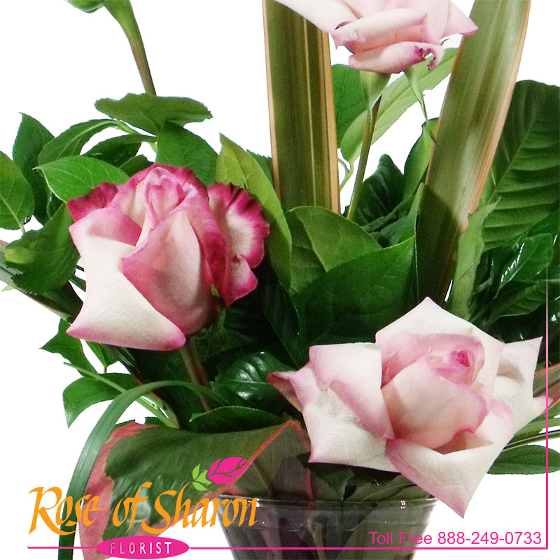 1960 Tailored Pink Roses Image One