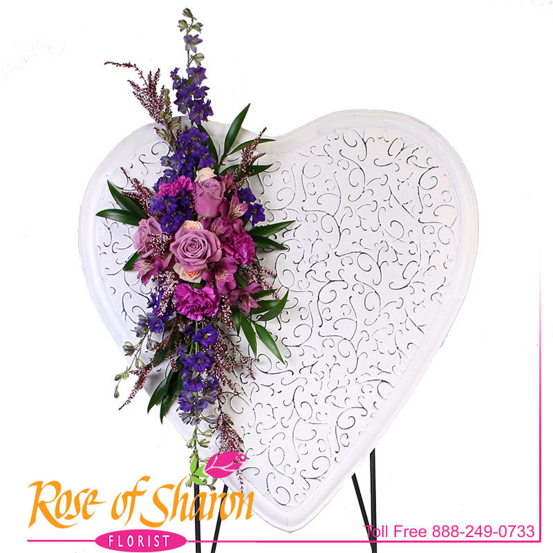 Shabby Floral Heart main product image