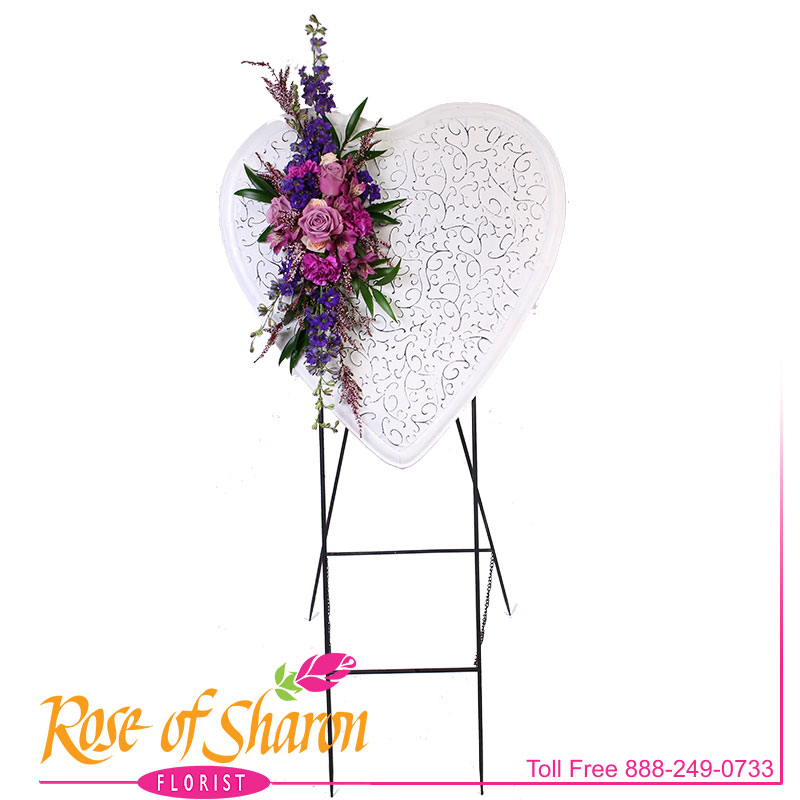2638 Shabby Floral Heart Image One