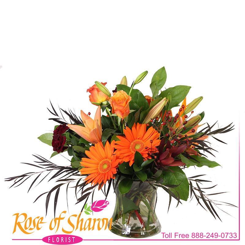 2660 Saffron Vase Arrangement product image