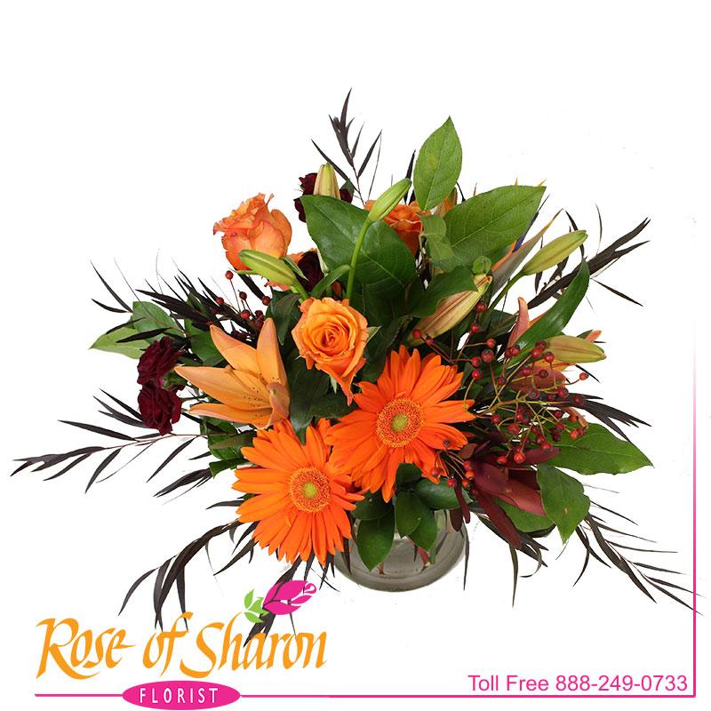 2660 Saffron Vase Arrangement Image One