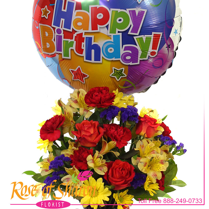 2746 Fly Away Birthday Bouquet Image One