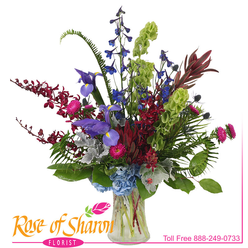 2798 Indigo Vase Arrangement product image
