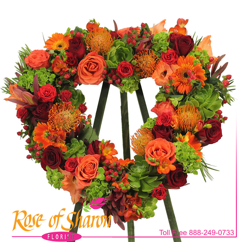 2823 Gabriel Heart Wreath product image