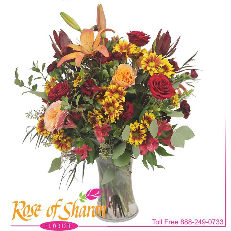 2921 Alexis Autumn Vase product image