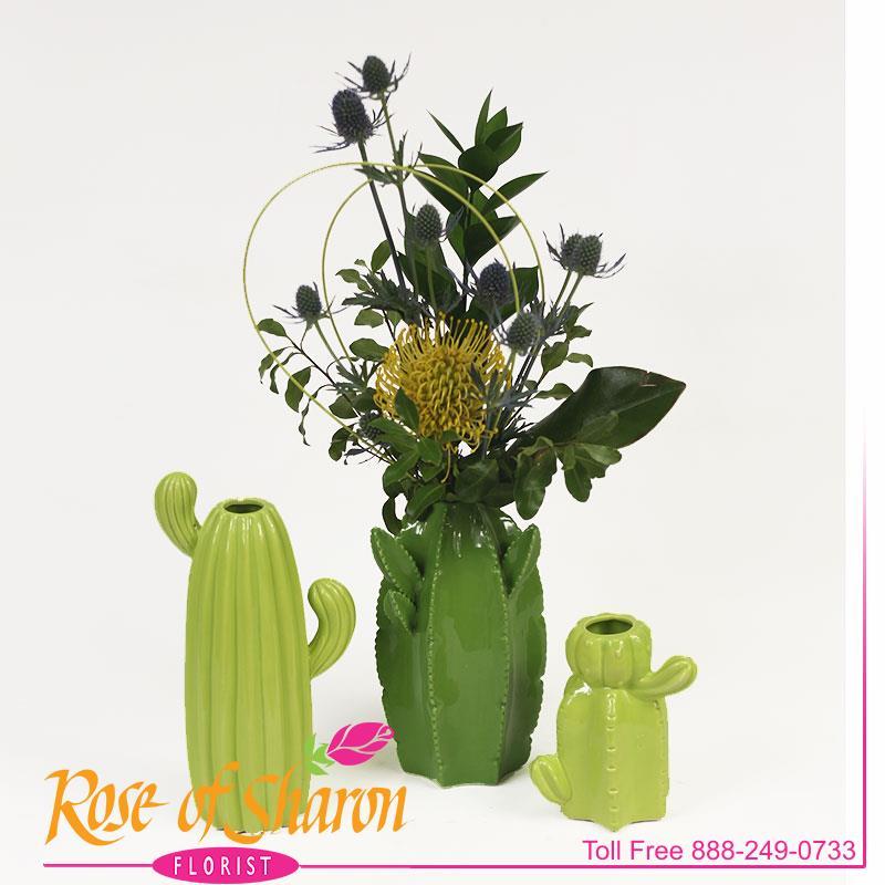2925 Cactus Vase Image One