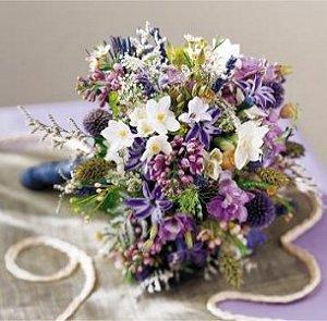 Image of 10001 Lavender Cascade Bouquet