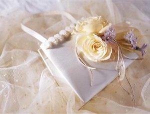 Image of 10024 Ivory Rose Handbag Decoration