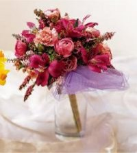 Image of 10121 Sparkle Pink Prom Bouquet