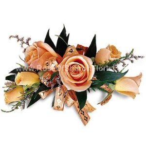 Image of 10126 Peach on Peach Corsage