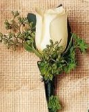 Image of 10133 White Rose Boutonniere