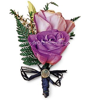 Image of 10137 Shades of Purple Boutonniere