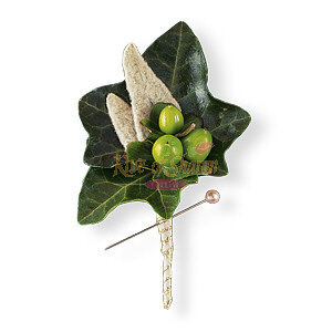 Image of 10818 Mixed Foliage Boutonniere