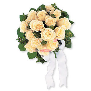 Image of 10823 Bountiful White Roses Nosegay
